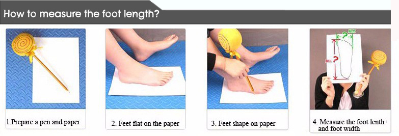 How to measure the foot length