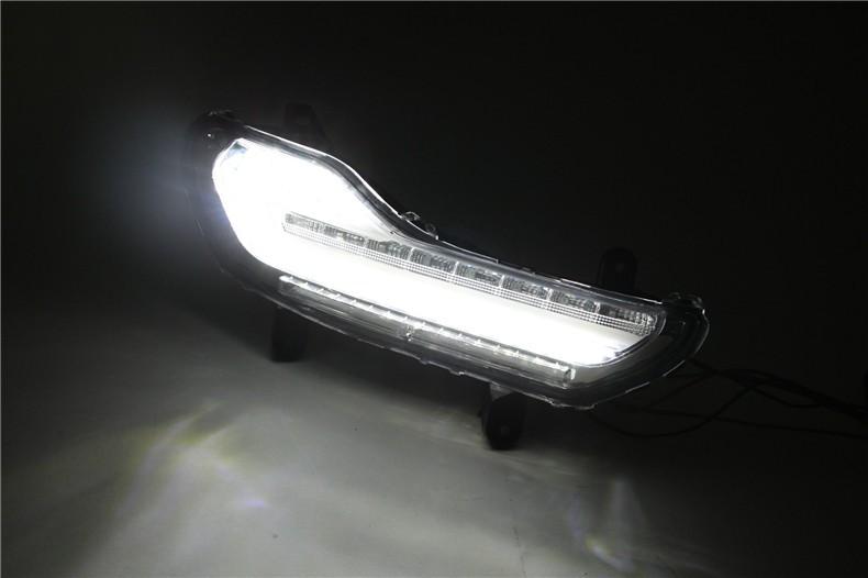 A&T car styling For Ford kuga LED DRL For kuga led fog lamps daytime running light High brightness guide LED DRL