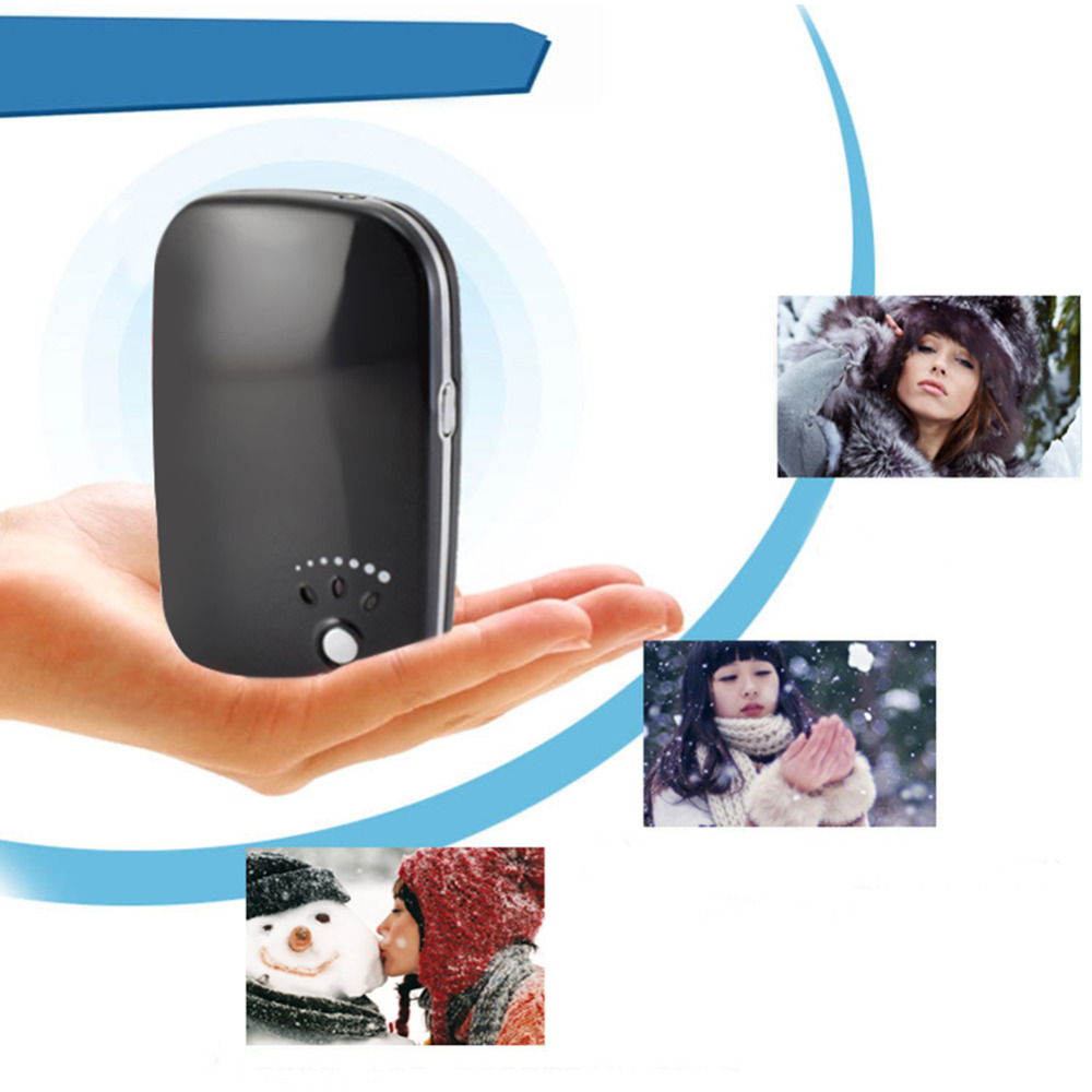 Portable Electric Hand Warmer Heater Rechargeable Led Light External Battery Pack USB Charger Pocket Warm Hands(China (Mainland))