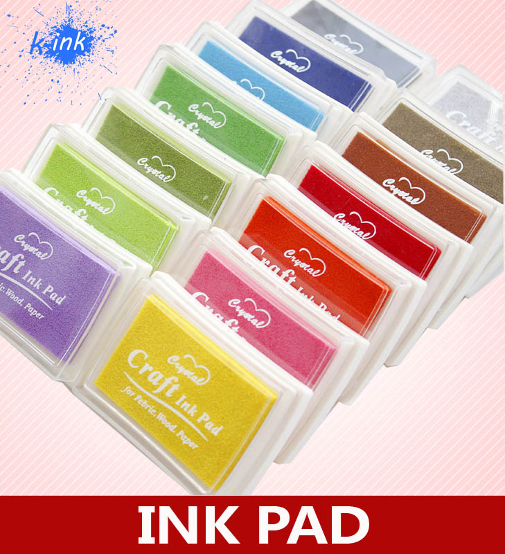 15 Color Crystal Craft Ink Pad , Colorful Cartoon Ink Pad , Ink stamp pad , Good for DIY funny Work<br><br>Aliexpress