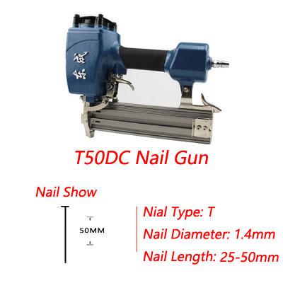 2016 New Arrivel Air Brad Nailer 15-50mm Straight Nail 1.6mm Nail Diameter Air Stapler 4-8 Bar Air Nail 8mm Pipe(China (Mainland))