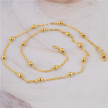 Gussiarro Stunning 24K Yellow Gold Plated Women's Link Chain Necklace No Nickel 19 Inches Free Shipping(China (Mainland))