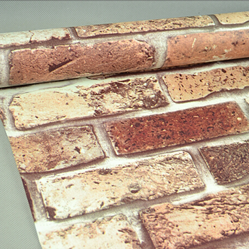 Ziegel Tapete Wohnzimmer : 3D Brick Wallpaper Self Adhesive