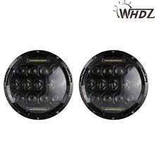 7inch 75W Round LED Headlight 7500LM Hi/Low Beam Head Light Bulb DRL JEEP Wrangler JK TJ Hummer Camaro FJ Cruiser - Yours Auto Parts store