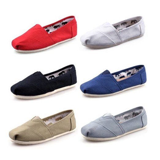 2015 Unisex size 4-14 shoes woman canvas flats loafers flat Women's Fashion Sneakers (customize) - Housewife supermarket store