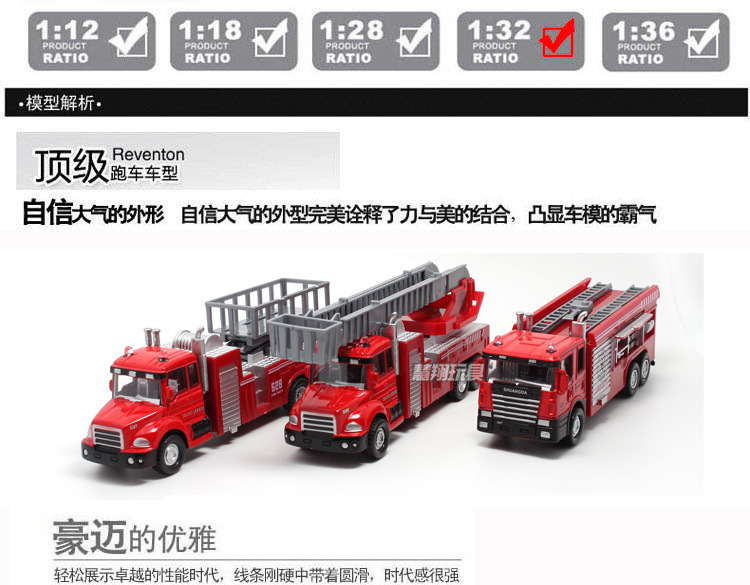 Free shipping FIREMAN Toy Truck Fire Truck Car With Music+LED Boy Toy Educational Toy Random delivery(China (Mainland))