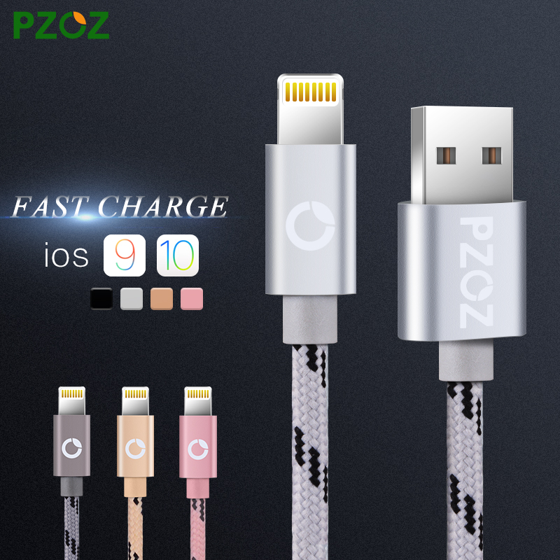 PZOZ Lighting Cable Fast Charger Adapter Original USB Cable For iphone 6 s plus i6 i5 iphone 5 5s ipad air2 Mobile Phone Cables(China (Mainland))