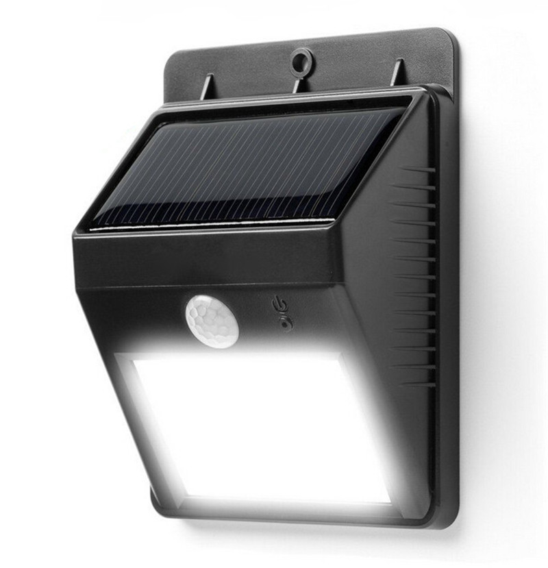 solar power 4 led waterproof wall lamp led solar light