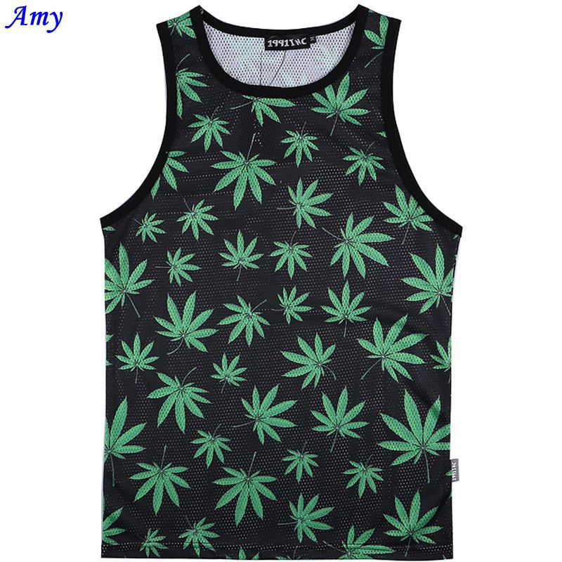 [AMY] 2014 Flowers/Notre Dame/leaf both side print 3d vest men Quick-drying sweat Network Tank Tops men's/women free shipping(China (Mainland))