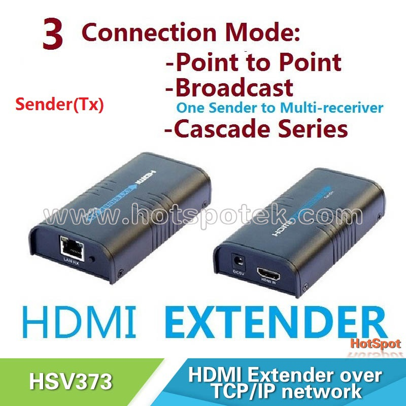 1 pcs Sender TX 1080p HDMI Extender ethernet Over Single Cat5/5e/6 rj45,HDMI Extender transmitter over IP/TCP,HDMI Splitter(China (Mainland))