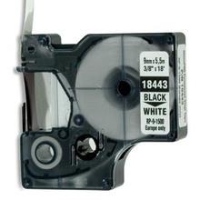 Compatible DYMO IND Vinyl Labels 18443 black on white 9mm 5.5m typewriter ribbon label maker laminated tape dymo label printer