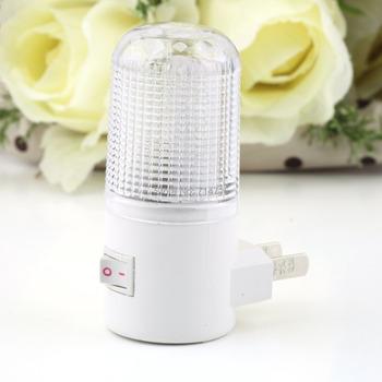 1pcs 1W 6 LED AC Plug Wall Mounting Bedroom Night Light Lamp Energy Saving wholesale Dropshipping