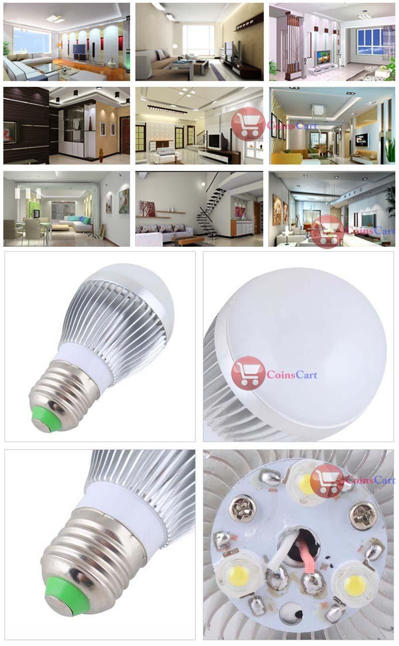 CoinsCart Big saving E27 9W Golf Ball Globe SMD LED Bead Light Bulb Spot Lamp Cool White 6500K-7000K rising stars(China (Mainland))