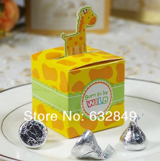 Recommended --1 Giraffe Animal Candy Boxes,Baby Birth Party Favor Box-- - Yiwu Wedding&Baby Favors store