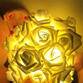 2M 20pcs Rose Battery LED String Light Rose Fairy String Garland For Christmas Xmas Party Wedding