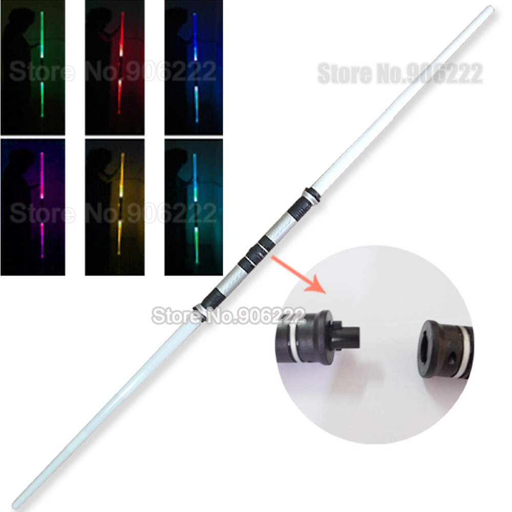 2-in-1 Double Sided Toy sword with Sound Led Light Mutil-Color Doublesaber Double-bladed saber for Game Play Cosplay(China (Mainland))