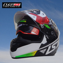 Free shipping  LS2 FF320 motorcycle helmet double throughout the whole piece with a balloon motorcycle helmet sports helmet(China (Mainland))