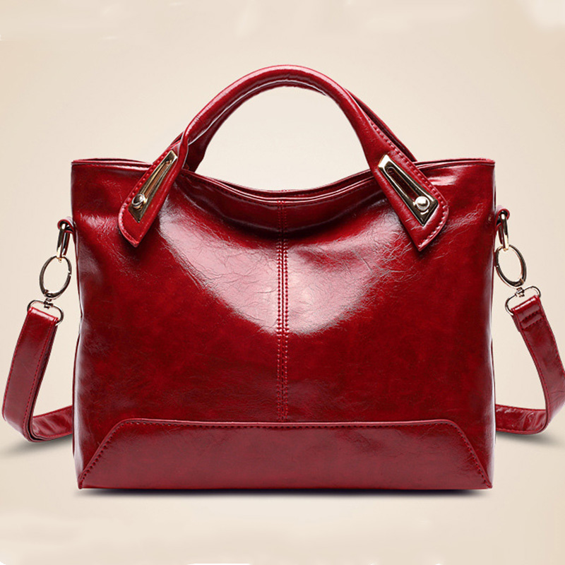 Hot NEW 2016 Women Hand bags Famous Brand Genuine Leather Handbag Red Fashion Retro crossbody Messenger Women Leather Bags LY096