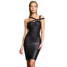2015 new arrival high quality black foil hollow out bandage dress – ladies ' party prom elegant dress wholesale dropshipping