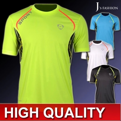 2015 SUMMER New Arrival Sport Fitness Designer Muscle Mens T-shirt Casual Quick Dry Slim Super Light Mens' Sports TShirt Tops(China (Mainland))