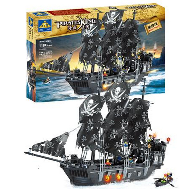 Building Block Sets Compatible wish lego ship pirates king 87010 1184pcs 3D Construction Brick Educational Hobbies Toys for Kids