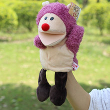 New arrvial shaun sheep animal hand puppets Baby loves doll Parent-child games toys turtle Civet cat selephant orangutans monkey(China (Mainland))