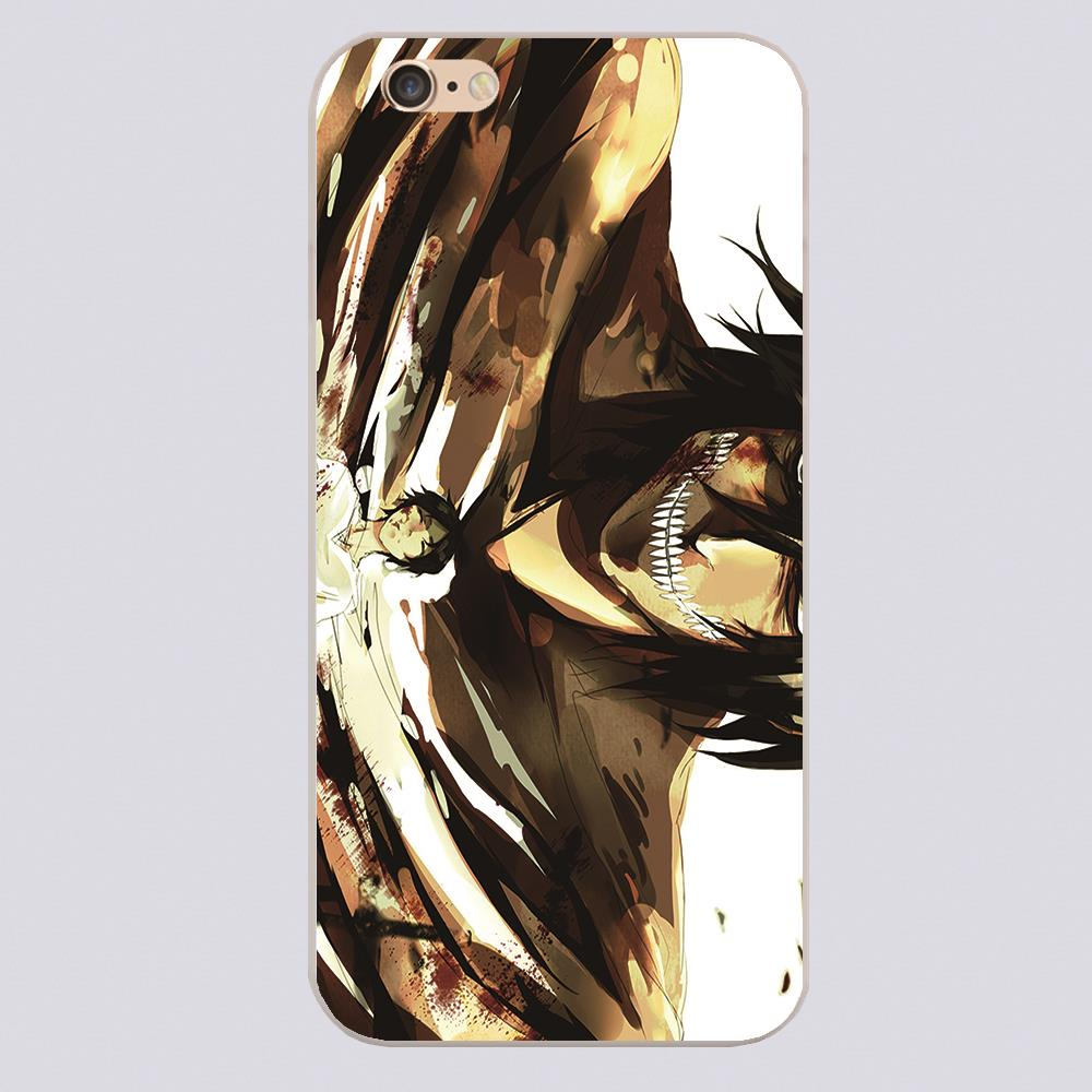 ATTACK ON TITANS ANIME Cover case for iphone 4 4s 5 5s 5c 6 6s plus