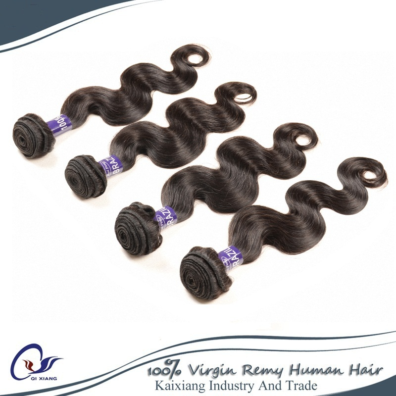 Brazilian Virgin Hair 3 Bundles Body Waves 8-30inch 100g/pc no shedding natural black free shipping Brazilain Body Wave(China (Mainland))