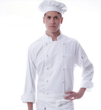 white chef uniforms autumn chef clothing hotel cook uniforms restaurant chef tops(China (Mainland))