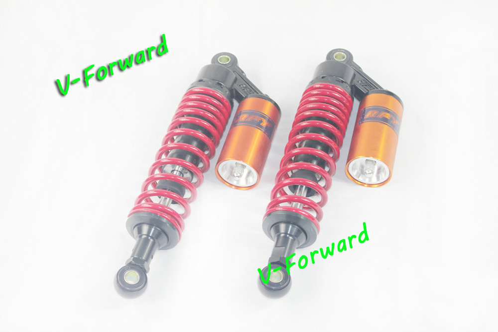 """12 5/8"""" RED Universal fitment Shock Absorber will fit on Round hole 150cc, 250cc, 300cc Dirtbikes,Gokart,ATV,motorcycles(China (Mainland))"""