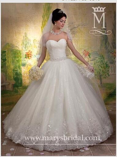 Turmec ball gown wedding dresses with sweetheart for Sweetheart neckline wedding dress with bling