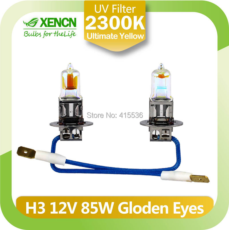 XENCN H3 2300K 12V85W Golden Eyes Super Yellow Original Car Halogen Fog Light OEM Quality Auto Lamp for audi a6 a4 opel vectra(China (Mainland))