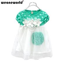 WEONEWORLD New Summer Style Girl Dresses Baby & Kids Dress Kids Wearing Flower Lace Children Girls Princess Dress Clothing(China (Mainland))