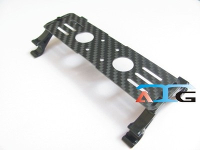 ATG Carbon Fiber Battery Plate Board+10mm Hook Mount Kit For Quad HexaCopter(China (Mainland))