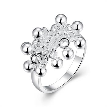 Free Shipping 2015 Lovely silver plated rings for men Grapes prices in euros jewerly accessories SMTR016(China (Mainland))