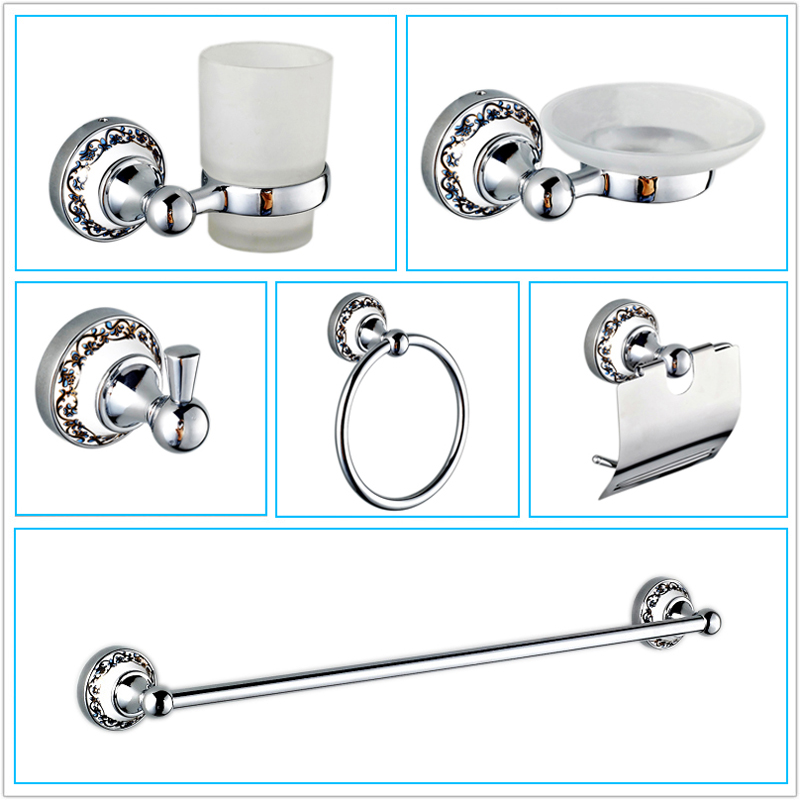 Buy free shipping ceramic chrome bathroom for Cream bathroom accessories set