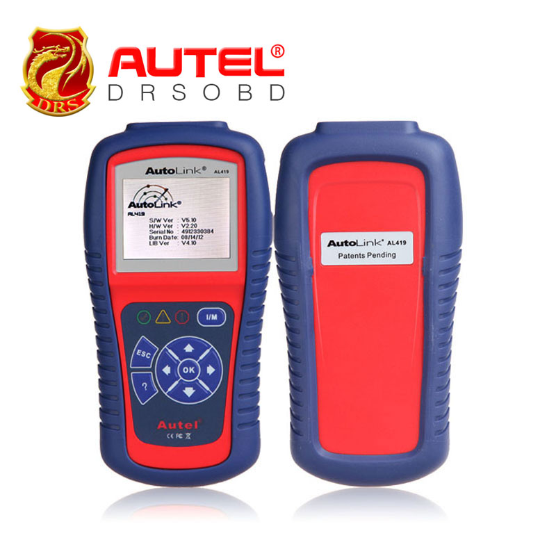 Car Diagnostic Scan Tool Autel AutoLink AL419 OBD II & CAN Code Reader AL-419 Free Online Update with Troubleshooter code tips(China (Mainland))