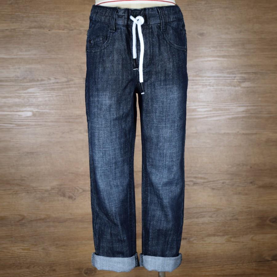 HSBN161003-1Christmas Winter Warm Stylish Baby Boys Denim Jeans Kids Pants Children Clothes Adjustable Elastic Waist Trousers