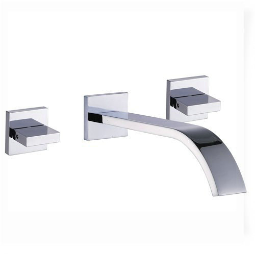 widespread flexble wall mounted bathroom vessel sink lavatory faucet