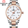 Carnival watch women s fully automatic mechanical watch waterproof brief diamond fashion watch ladies watch