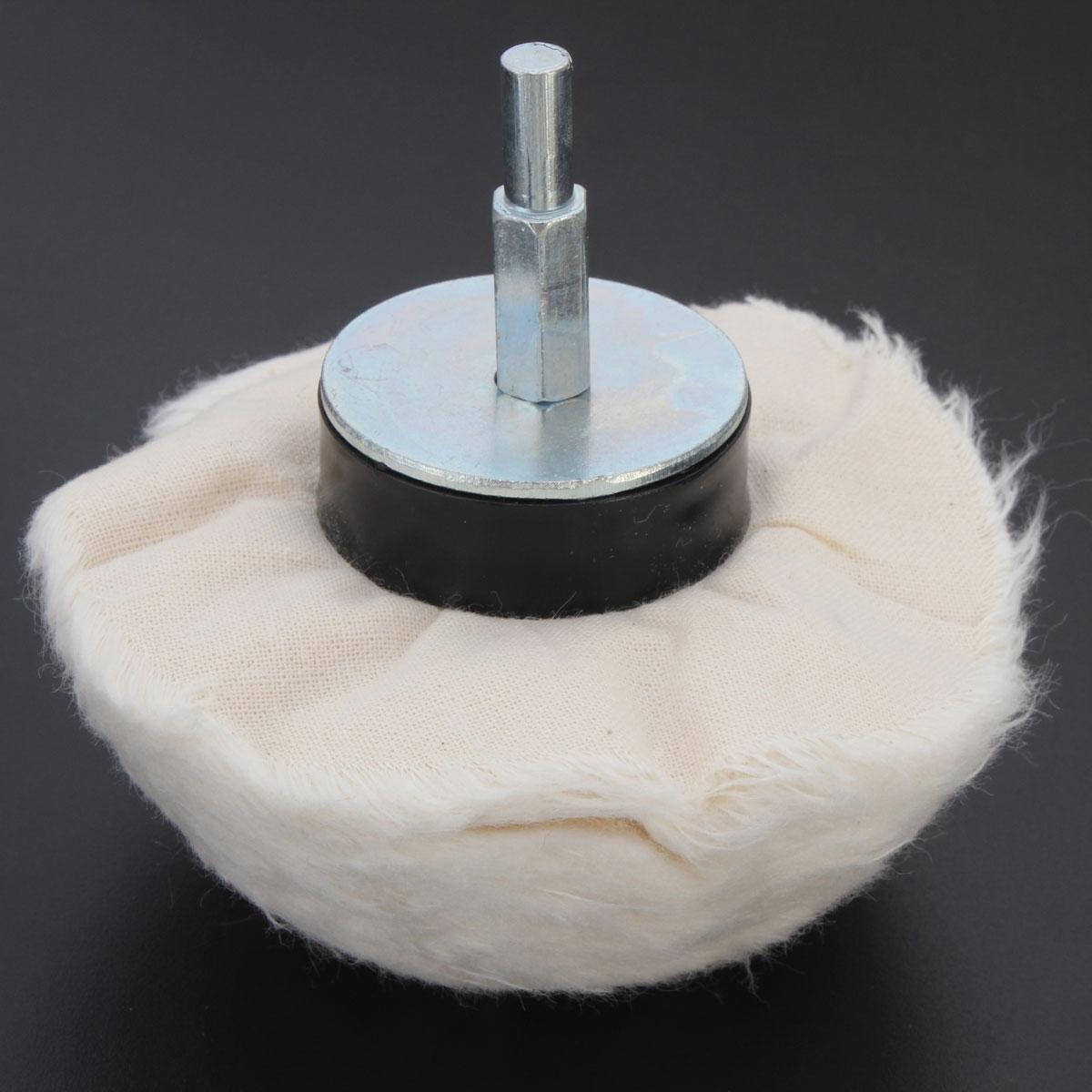 100mm 100% Cotton Dome Polishing Mop Buffing Wheel Polish Pad Polishers Drills(China (Mainland))