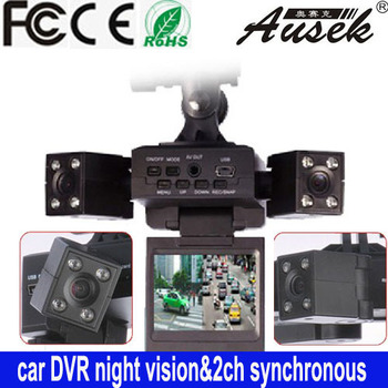 Robot sytle dual Lens car DVR auto camera  vehicle black box  car camera - free shipping
