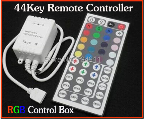 Big Sales Free shipping 44keys IR remote controller for RGB 12V SMD 5050 3528 LED strip Box Receiver RGB controller 1pcs/lots(China (Mainland))