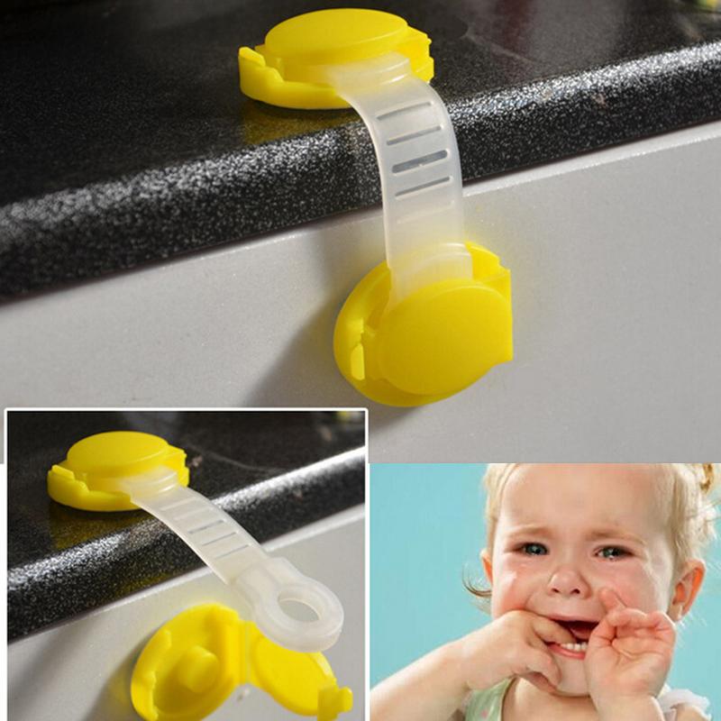 Toddler Baby Safety Lock Kids Drawer Cupboard Fridge Cabinet Door Lock Plastic Cabinet Locks1 Pc