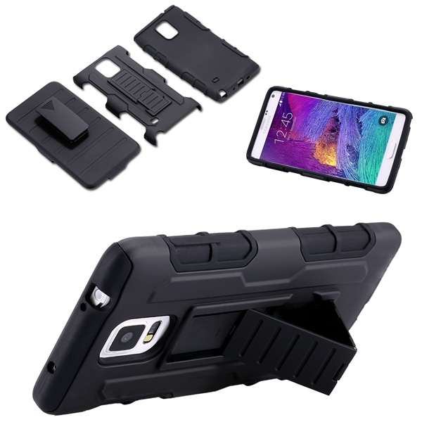 4 Styles Future Armor Hybrid Case Military 3 in 1 Combo Cover For Samsung Galaxy Note 4 Note 3 S4 S5 Stand Case Triple Full Capa(China (Mainland))