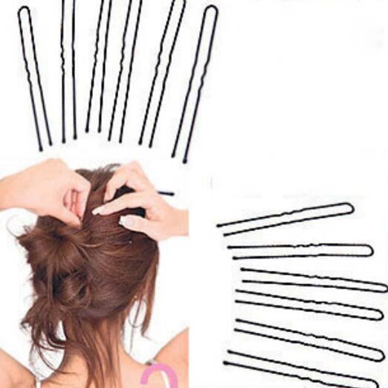 20pcs/pack High Quality Beauty Hair Pins Thin U Shape Hair Pin Black Metal Clips Health Hair Care Styling Tools(China (Mainland))