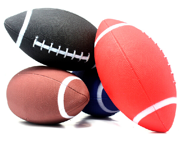 1 piece 6# American football rugby ball Rubber soft balls for child kids young men women safety(China (Mainland))