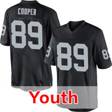 Youth 52 Khalil Mack 4 Derek Carr Kid's 89 Amari Cooper 34 Bo Jackson 24 Charles Woods Embroidery Black Elite Free Shipping(China (Mainland))