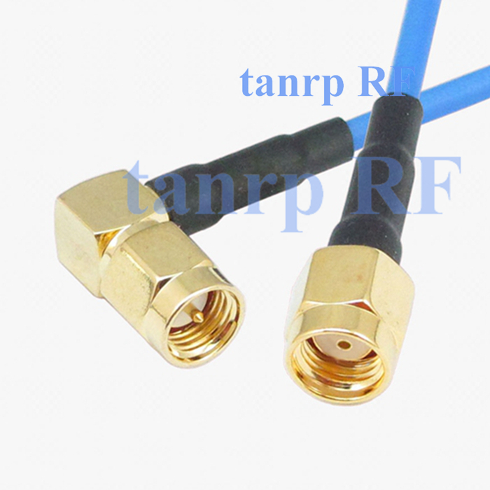 20in RP SMA male to SMA male right angle RF 3G 4G router WIFI 50CM coax Sexi Flexible blue jacket jumper extension cable RG405<br><br>Aliexpress