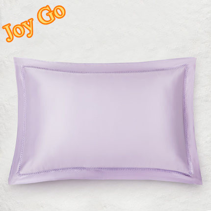 Free Shipping Single face silk pillowcase 100% pure silk comfortable pillow cases 8 color pillowcase size 48X74cm Free Shipping(China (Mainland))